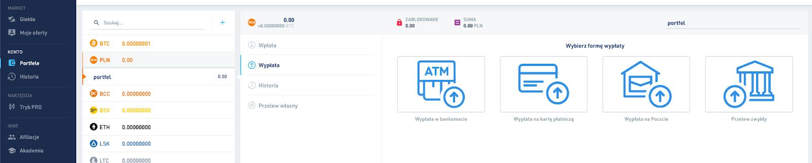 BitBay - wypłata PLN